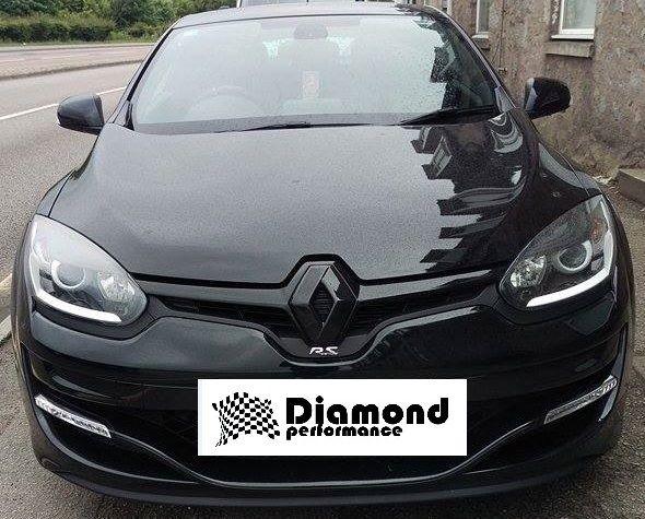 Renault Megane 3 Facelift 2013 2016 Gloss Black Front