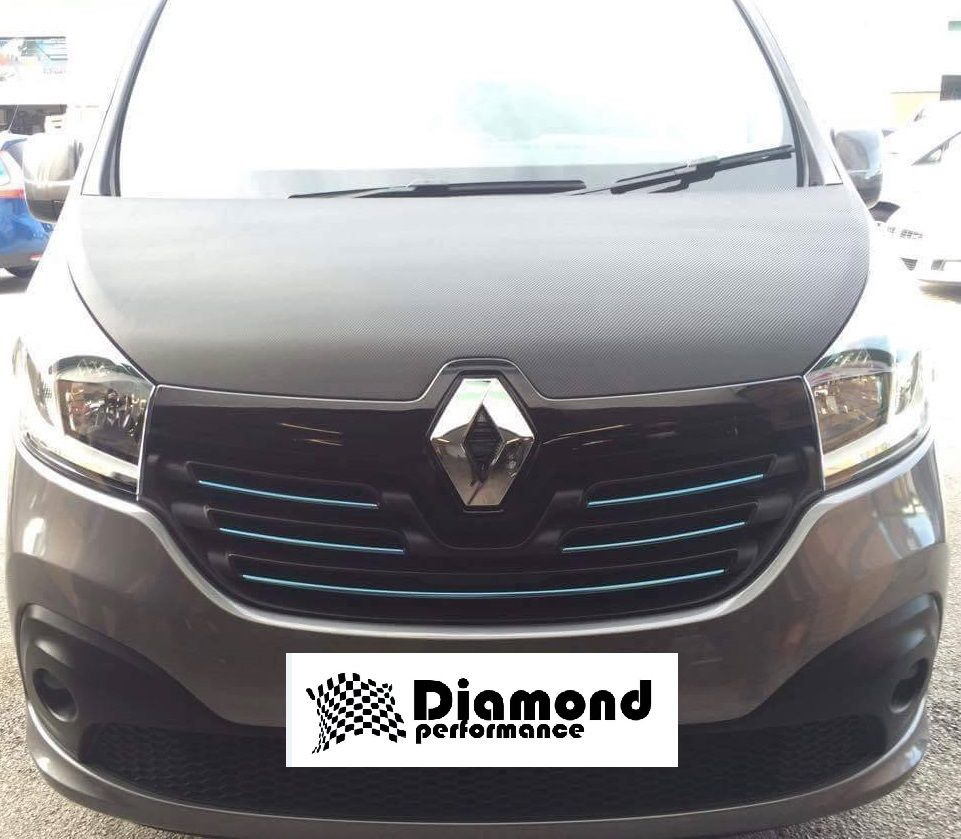 renault trafic 3 2014 carbon fibre effect front grille badge cover offer diamond performance. Black Bedroom Furniture Sets. Home Design Ideas