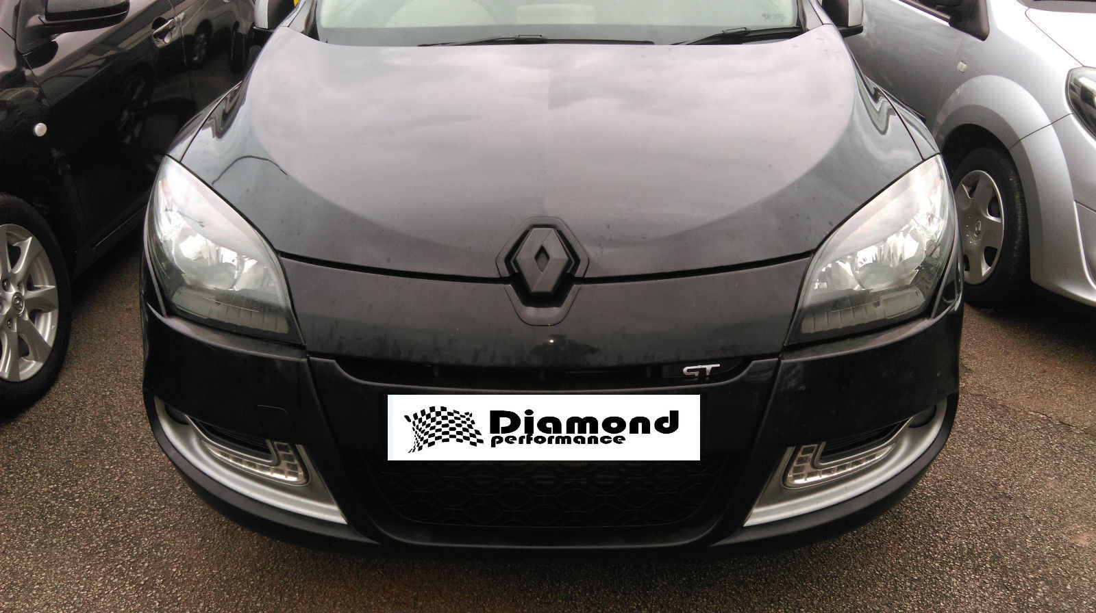 renault megane 3 2009 2013 gloss black inc rs250 badge cover set pre facelift diamond. Black Bedroom Furniture Sets. Home Design Ideas