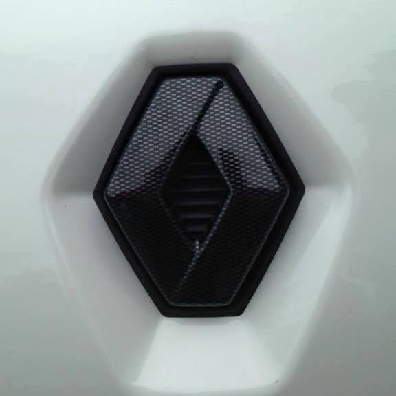 RENAULT TRAFIC 2001-2006 CARBON FIBRE EFFECT FRONT GRILLE BADGE COVER